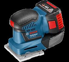 Ponceuse vibrante BOSCH GSS 18V-10 - 2 batteries 18V 5.0Ah, chargeur et coffret + 3 feuilles abrasives et 3 plaques - 06019D0201