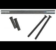 Kit vis douille fer patine + carré BOUVET - long épaisseur 68/78 mm - 65659