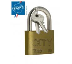 Cadenas ISEO CITY 45 mm - Laiton et anse acier - 2 clés - 2052201