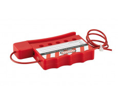 Cable de consignation rouge acier tresse THIRARD D.3 mm L.180 mm ajustable - 091278