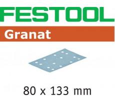 Abrasif pour ponçeuse FESTOOL Granat - 80 x 133 mm