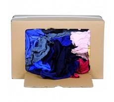 Carton de 10 Kg de chiffons coton couleur EUROTRANS HYGIENE - 1102