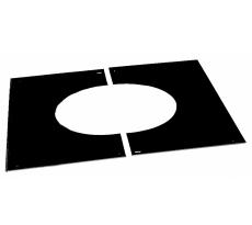 Plaque de propreté plafond rampant noir POUJOULAT - PPPDSER41-80NOIR