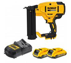 Cloueur de finition 18V 2.0Ah DEWALT - 2 batteries + chargeur + coffret - DCN680D2