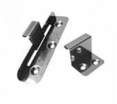 Pattes coulissantes Inox joint debout 17 trous incurvés CONNECTON H.25 mm - Boite de 250 - NCPVO11017XOAZ
