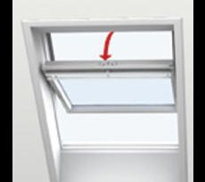 Fenêtre de toit VELUX à rotation - Confort - Finition blanche - GGU CK02 0076 55x78