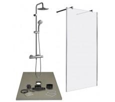 Receveur et accessoires de montage LAZER pour douche à l'italienne