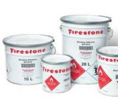 Colle BA-2015 et colle projetée Firestone