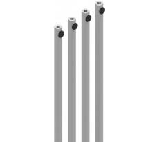 Kit de 4 tringles lg 2500 mm LA CROISEE DS - gris argent - 7020