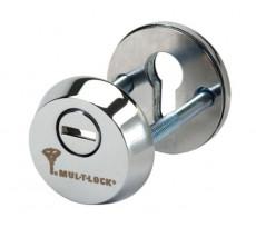 Rosace blindée nickel MUL-T-LOCK pour cylindre européen - 26930521
