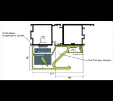 Poteau technique de rénovation INTEGRA SYSTEM - P324 avec 2 ventouses IGE2