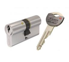 Cylindre de Sureté TK6 3 clés incopiables double brevet Nickelé 30X30 - AK6353030N