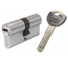 Cylindre de Sureté TK6 3 clés incopiables double brevet Nickelé 40X40 - AK6354040N