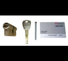Cylindre VACHETTE Euro VOLT - Avec 3 clés réversibles + carte de propriété