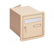 Boîte aux lettres à encastrer DECAYEUX - Byblos - Double face - Beige - 124126