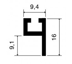 Profil porte-joint 4110 VACHETTE - L.2.25 m - 866992