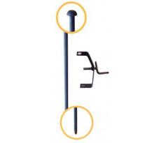 Piquet d'implantation en acier plein MERCIER 1.50m / 20 mm - 607