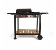 Barbecue gaz grill et plancha DELTA 133x57x98 cm - DOC208