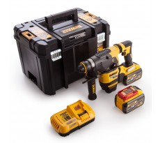 Marteau DEWALT SDS-Plus 3,5J (EPTA) - 54V XR FLEXVOLT - 2 Batteries 9.0 Ah, chargeur, mallette de transport - DCH333X2