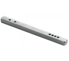 Tige carrée acier à trous 7/70 VACHETTE - Carré 7 x L.70 mm - 227304