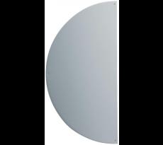 Plaque demi-lune adhésive 300x150x1 DUVAL BILCOCQ - Alu argent - Chant adoucis - 11-0102-1630