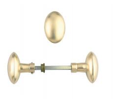 Bouton double ovale 125 laiton poli DEVISMES Carré 6 mm - 1256