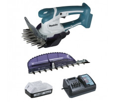 Taille-herbe MAKITA 18V Li-Ion 1,5 Ah - 1 batterie, chargeur + Kit sculpte-haies - UM603DWYX