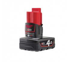 Batterie MILWAUKEE 12V 4Ah Red Li-Ion M12B4 - 4932430065