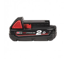 Batterie MILWAUKEE 18V 2 Ah Red Li-Ion M18B2 - 4932430062
