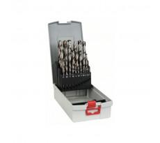 Set de 25 forets à métaux rectifiés BOSCH - HSS-G Robust-lines - Ø1 à 13mm - 2608587017