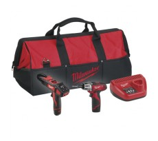 Pack MILWAUKEE Visseuse C12PP2E-22B C12D/0 + Pince C12CME/0 + 2 batteries + Chargeur + Sac - 4933416983