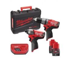 Powerpack MILWAUKEE 12V M12 PP2A-202C M12CPD + M12CID - 4933440900