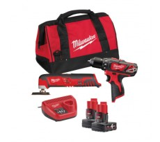 Powerpack MILWAUKEE 12V M12 BPP2D-402B M12BPD + C12MT MILWAUKEE - 4933441250