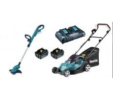Pack sans fil Tondeuse DLM431PT2 + Coupe-herbe 18V 5Ah DUR181Z - DLX2231PT