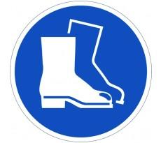 Disque VISO - Obligation de porter des chaussures - Diam 300 mm - DPO34