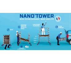 Echaffaudage TUBESCA Nano TOwer - Roulant telescopique en aluminium - 22406410