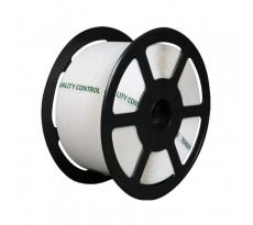 Bobine de cerclage polypropylène manuel BBA EMBALLAGES - blanc - résistance 148 kg - 12 mm x 1500 m - ép. 0.50 mm -16P1260D