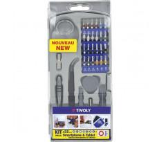 Coffret TIVOLY 32 pièces - Spécial reparation Smartphone - 1150157