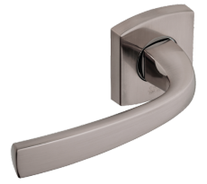 Ensemble de porte sur rosaces Ligne MUZE BEZAULT pour porte standard 40 mm - Avec tige carrée de 7 mm