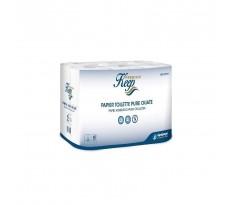 Pack de 96 rouleaux de papier toilette blanc gaufré - PWC00001