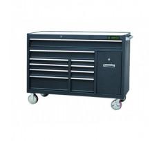 Etabli mobile d'atelier 10 tiroirs + 1 porte coulissante KING TONY - 87A3510B