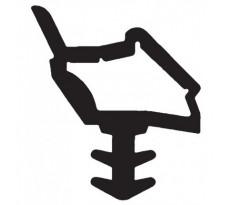 Joint pour portes intérieures KISO - rainure 4mm - Rouleau de 18M - M 7210 BA Noir