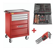 Servante Roll XL 6 tiroirs + 69 outils FACOM - CM.69 ROLL.CONTACTPB
