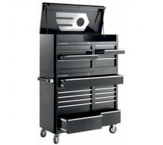 Servante US coffre 21 tiroirs FACOM noir/chromé - FAS.21BKPB