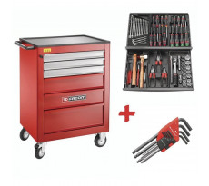 Servante Roll M3 Rouge 69 outils FACOM 6 tiroirs - ROLL.CONTACTPF