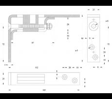 Penture supérieure réglable NM S3306024 - 756024