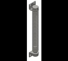 Ferme-porte MONIN à ressort - acier nickelé - vernis noir - 161110