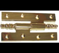 Paumelle longue pour meuble rustique - Laiton poli étiré