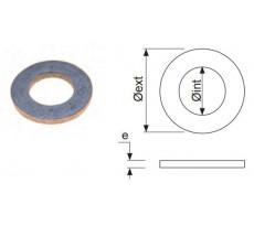 Rondelles larges galvanisées Ø40x18x3 L16 - Boite de 100 - 02LG16