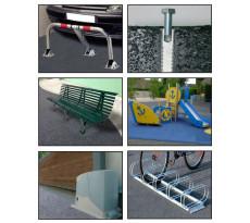 Kit barrière de parking ING FIXATIONS 8 fixations asphalte Ø12x100 + TH 10/25 + résine 300 ml MP+  - A860022